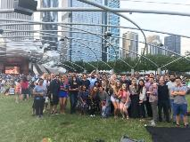 Annual welcome mixer at the Summer Music Series at Millennium Park, as part of orientation for incoming SCH residents
