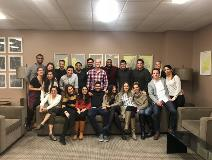 Friendsgiving potluck for residents and their families