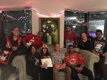 Residents at a Secret Santa Christmas party (2)